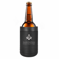 Masonic Emblem Personalized Insulated Can & Bottle Holder
