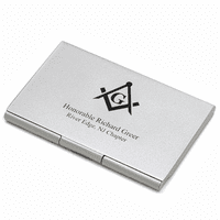 Masonic Engraved Business Card Case