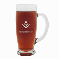 Masonic Personalized 18 Ounce Pilsner Glass with Handle