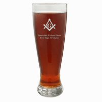Masonic Personalized 22 Ounce Grand Pilsner Glass