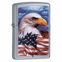 Mazzi Eagle Freedom Watch Street Chrome Zippo Lighter - ID# 24764