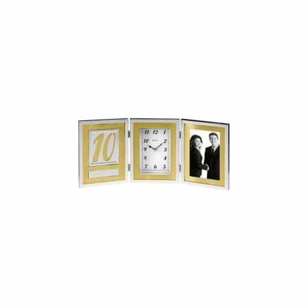 Medallion Picture Frame Collection Clock by Bulova