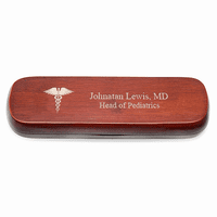 Medical Theme Cherrywood Double Pen and Box Set