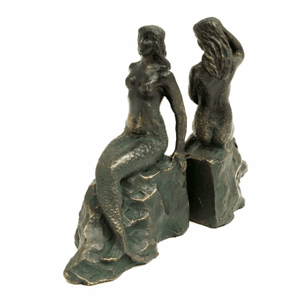 Memaids Bronzed Metal Bookends