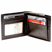 Men's Bifold Credit Card Wallet with Removable Credit Card/ID Sleeve
