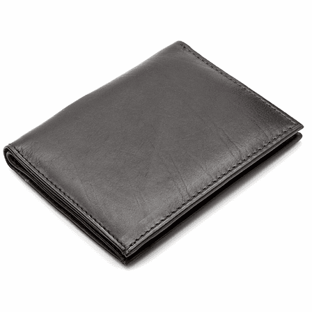 Men's Bifold Credit Card Wallet with Top Pockets