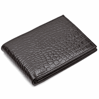 Men's Bifold Crocodile Print Italian Leather  Wallet