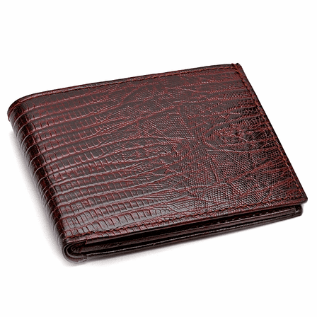 Men's Bifold Lizard Print Italian Leather  Wallet