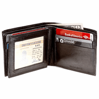 Men's Bifold Wallet with ID & Credit Card Flap