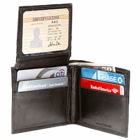 Men's Bifold Wallet with Pop Up ID Window
