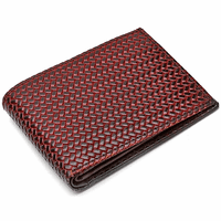 Men's Bifold Woven Print Italian Leather Wallet