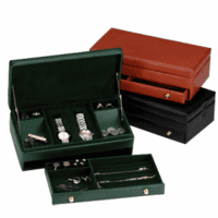 Men's Genuine Leather Watch & Jewelry Box - Discontinued
