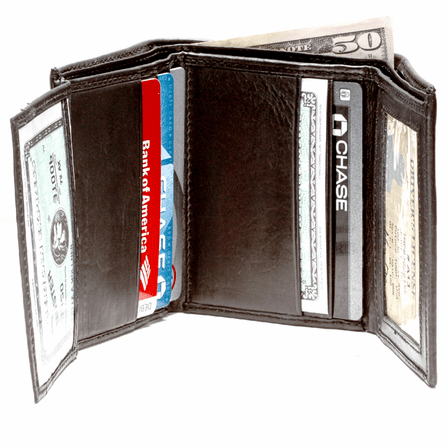 men s trifold wallet with double id windows executive gift shoppe