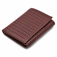 Men's Trifold Woven Italian Leather Wallet