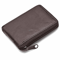 Men's Zip Around  Wallet with ID Flap