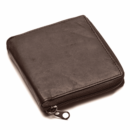 Men's Zipper Wallet with Snap Closing Change Pouch