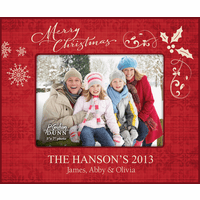"""Merry Christmas Personalized 5"""" x 7"""" Picture Frame - Discontinued"""