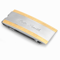 Milan Engraved Spring Loaded Money Clip