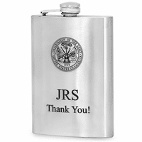 Military Emblem Hip Flask - Discontinued