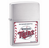 Minnesota Twins Brushed Chrome Zippo Lighter - ID# 24581-H