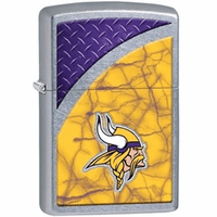 Minnesota Vikings NFL Brushed Chrome Zippo Lighter - ID# 28615