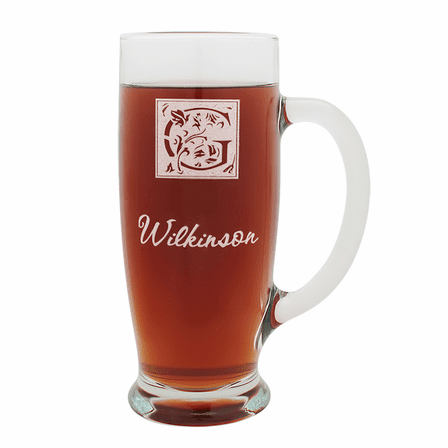 Monogram  18 Ounce Pilsner Glass with Handle
