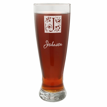 Monogram  22 Ounce Grand Pilsner Glass