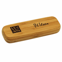 Monogram Bamboo Engraved Wood Pen and Box