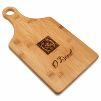 Monogram  Bamboo Paddle Shape Cutting Board