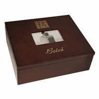Monogram  Keepsake Box With Picture Frame Lid