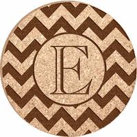 Monogram Personalized Cork Drink Coaster Set
