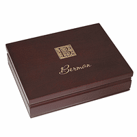 Monogram  Rosewood Finish Playing Card Box