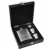 Monogram Stainless Steel Flask Gift Set - Discontinued