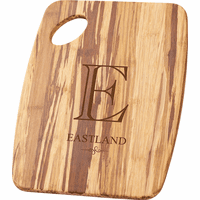 Monogrammed Tiger Wood Cutting Board
