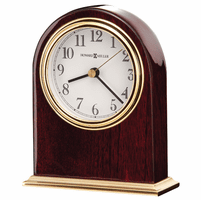 Monroe Rosewood Hall and Brass Table Clock by Howard Miller
