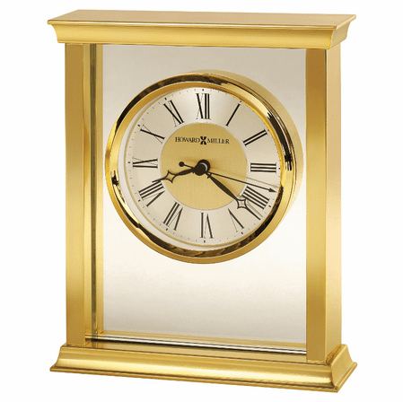 Monticello Brass Bracket  Table Clock by Howard Miller