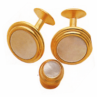 Mother of Pearl Genuine Stone Cufflinks