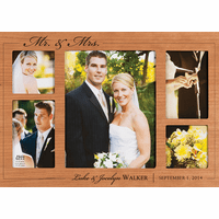 Mr. & Mrs. Personalized Collage Picture Frame