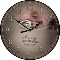 Mr. & Mrs. Personalized Wall Clock