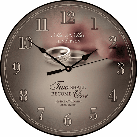 Mr. & Mrs. Personalized Wall Clock - Discontinued
