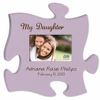 My Daughter Personalized Puzzle Piece Photo Frame - Discontinued