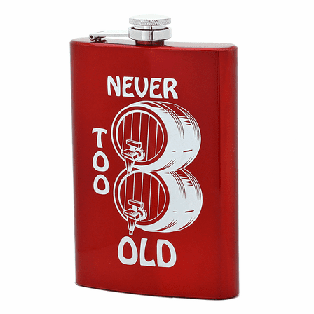 Never Too Old Flask - Discontinued