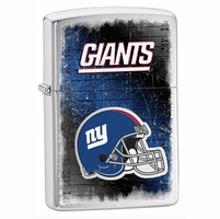 New York Giants NFL Brushed Chrome Zippo Lighter - ID# Z732