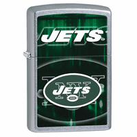 New York Jets NFL Brushed Chrome Zippo Lighter - ID# 28600