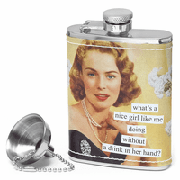 Nice Girl Like Me Flask by Anne Taintor - Discontinued