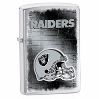 Oakland Raiders NFL Brushed Chrome Zippo Lighter - ID# 28605