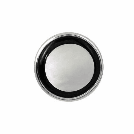 Onyx & Mother of Pearl Sterling Silver Tie Tack