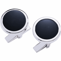 Onyx & Sterling Silver Cufflinks - Discontinued