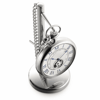 Open Face Pocket Watch & Stand by Dalvey - Discontinued