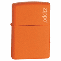 Orange Matte with Zippo Logo Zippo Lighter - ID# 231ZL